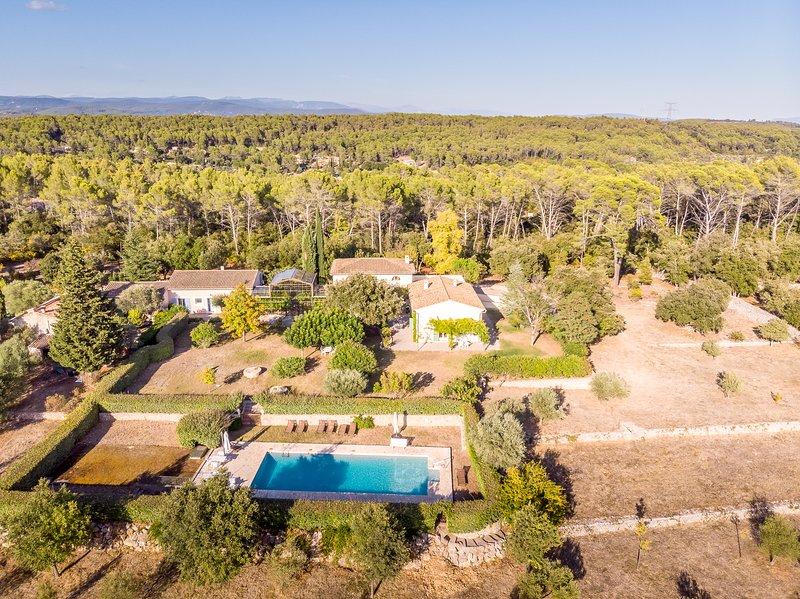 1363216 Country house, 6 bedrms, 6 bathrms divided in 2 houses, pool 16 x 6 mtr, location de vacances à Taradeau
