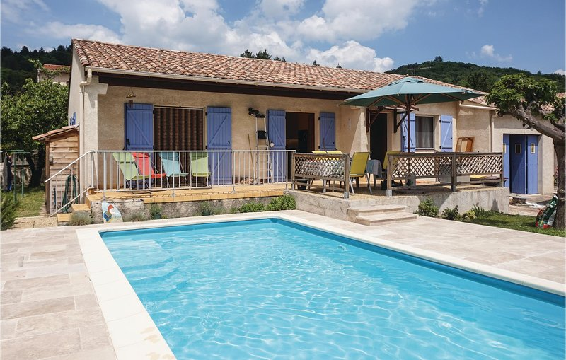 Beautiful home in Le Poujol sur Orb with Outdoor swimming pool and 3 Bedrooms (F, vacation rental in Colombieres-sur-Orb