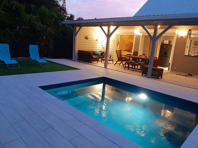 ARCHIPEL MAIMEO  LA CABOTTE / Villa de charme / Piscine/4-6 pers/ clim, holiday rental in Saint Francois