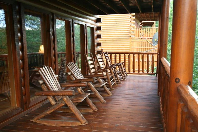Rocking chairs on main deck