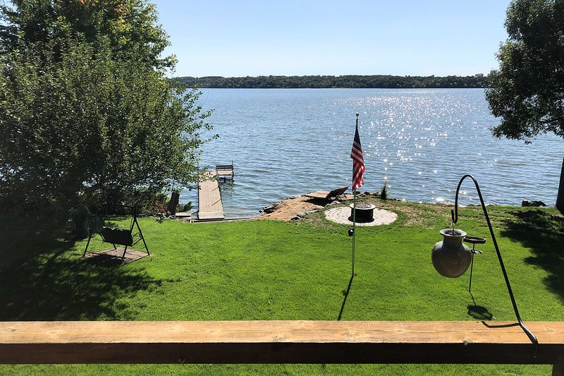 Fantastic water views and a private dock await your stay.