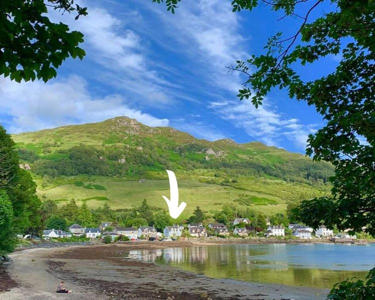 Greenbank's location on Loch Goil