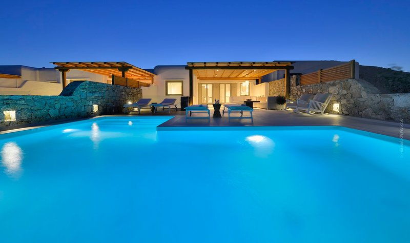 BlueVillas | Villa Damian | Wind-protected pool close to Elia Beach, holiday rental in Elia