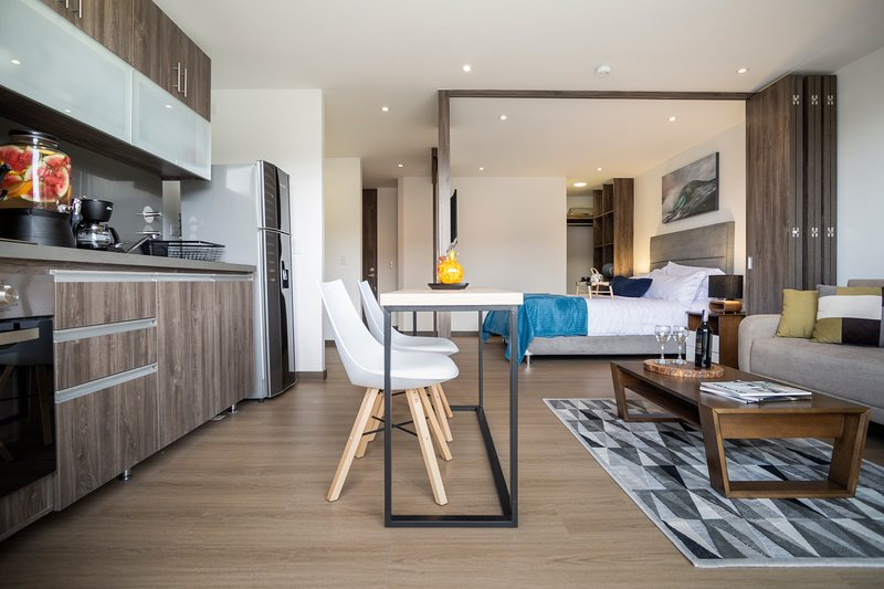 ★72 HUB★One Bedroom Apartment★ Pool★ Gym★ Monthly Discount ★By Jalo★ – semesterbostad i Bogotá