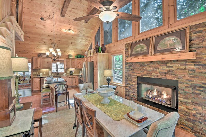Embrace the beauty of the Blue Ridge Mountains at this vacation rental cabin.