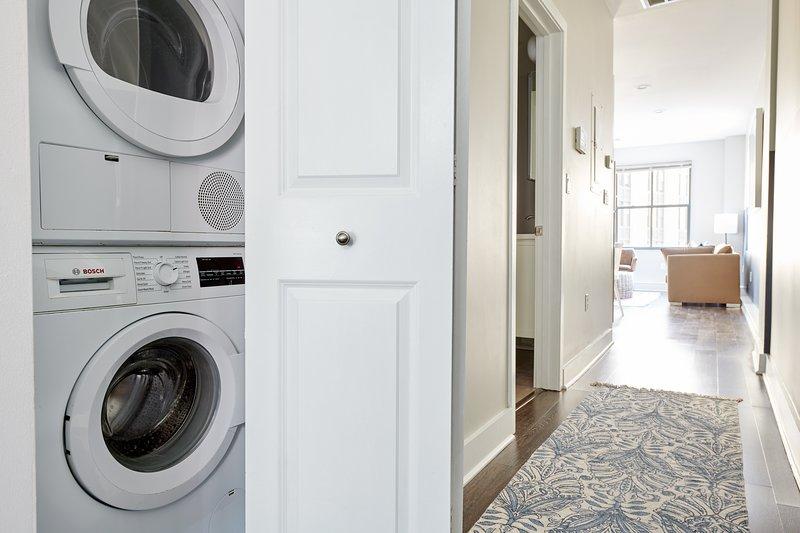 In-suite washer/dryer