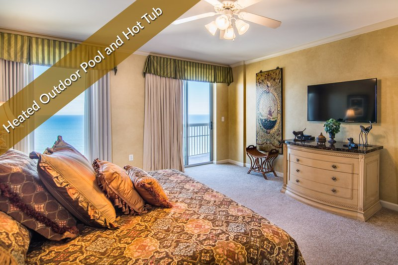Master Bedroom w/ King Bed and Balcony Access