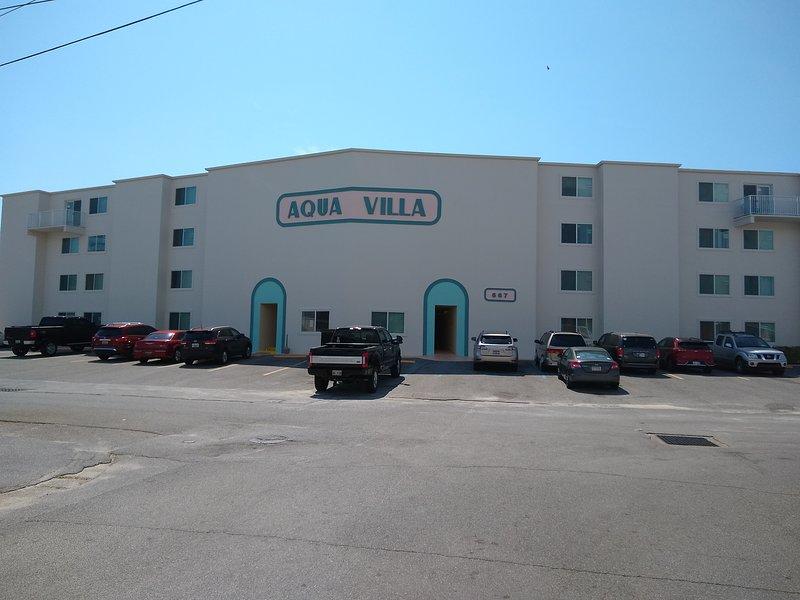 Aqua Villa desde la calle