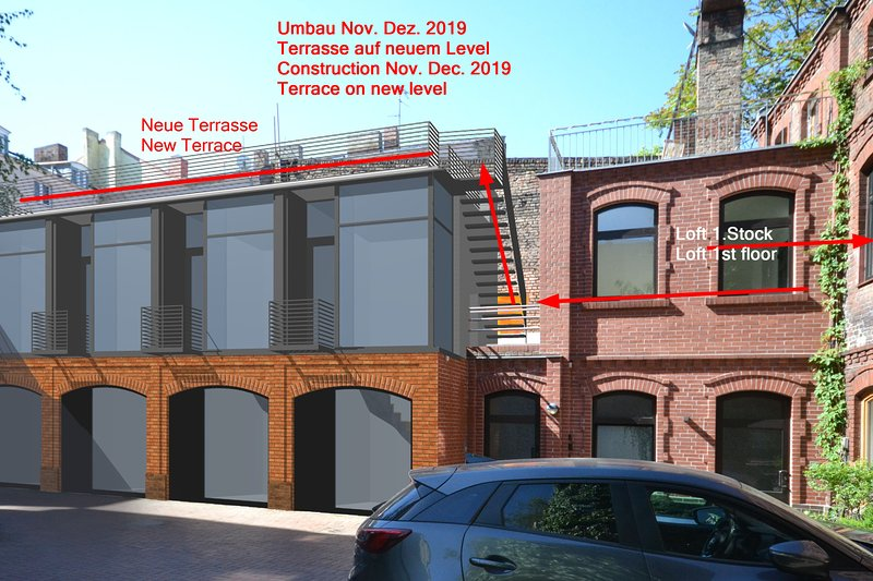 Construction Nov. Dec. 2019 new terrace will move one floor up in January 2020