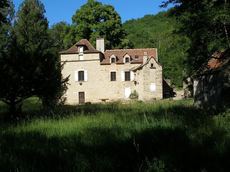 Mill House with Beautiful Pool set in 50 Acres – semesterbostad i Villefranche-de-Rouergue
