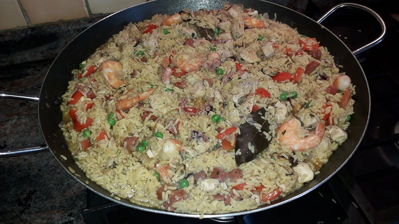 Homemade Paella night for guests upon request. Delicious!