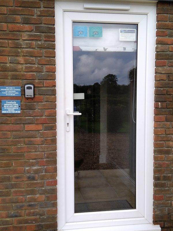 Your front door with keysafe beside