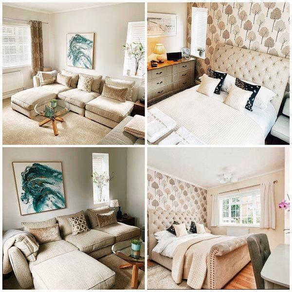 2 Bed flat, free Breakfast, Parking,Wi-fi. Free Transfers Heathrow & Gatwick*, vacation rental in Chertsey