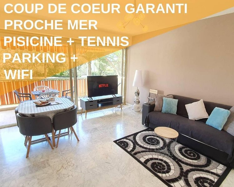 2P Neuf, Piscine, 5 Min Mer, Tennis, Wifi Parking, holiday rental in Juan-les-Pins