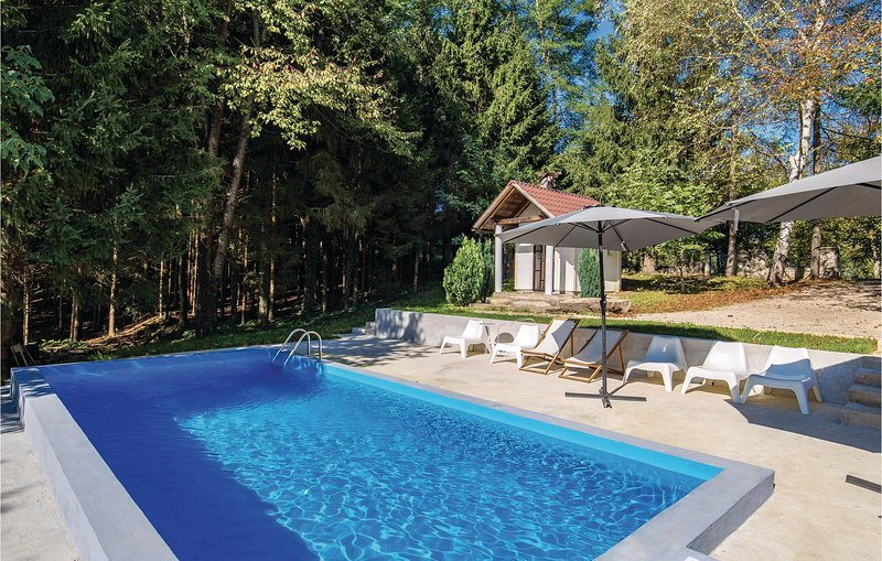 Awesome home in Plaski with WiFi, Outdoor swimming pool and 4 Bedrooms (CCL090), alquiler vacacional en Plaski