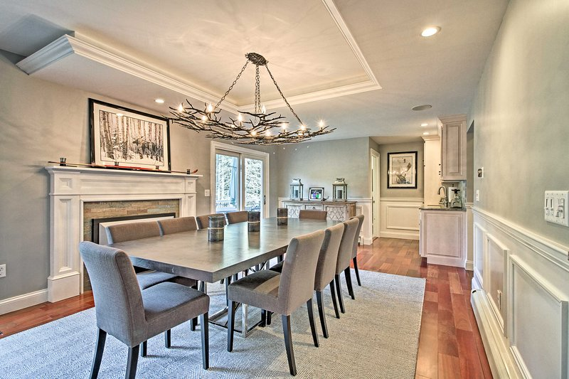 Elegant furnishings highlight the living space of this West Dover home.