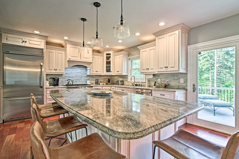 This vacation rental boasts a full, gourmet kitchen.