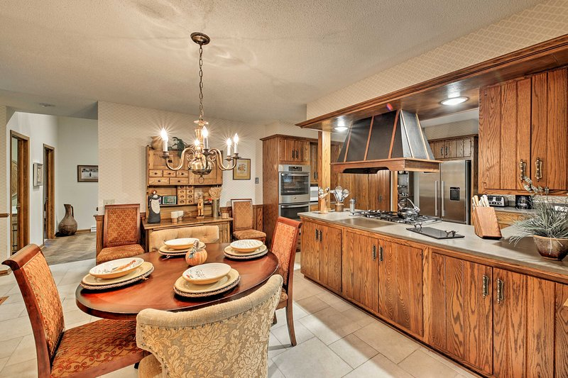 Cooking and entertaining has never been easier with this home's open layout.