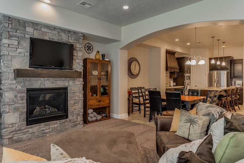 Relax in the large main floor family room along with the large family room in the loft.