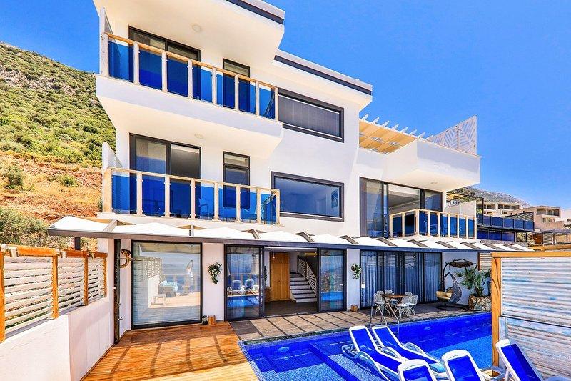 Villa Valentina , 3 bedrooms Luxury Villa, infinity pool, with hamam, holiday rental in Bezirgan