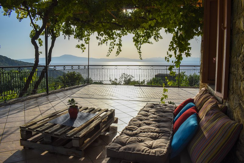 Relax in the spacious balcony of the house