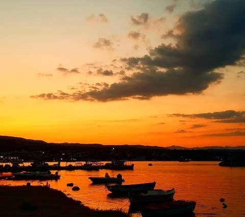 Amazing sunsets in the Messinian Bay