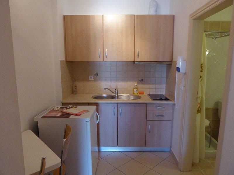 Uma cozinha equipada