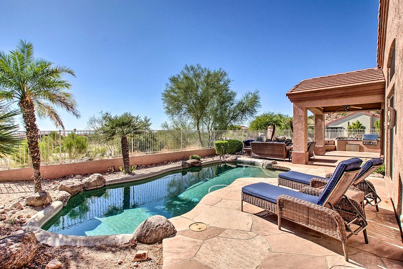 Enjoy peaceful relaxation at this 3-bed, 2-bath Mesa vacation rental home.