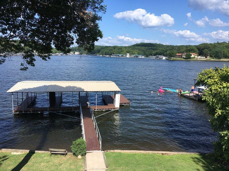 3 slip boat dock with swim platform