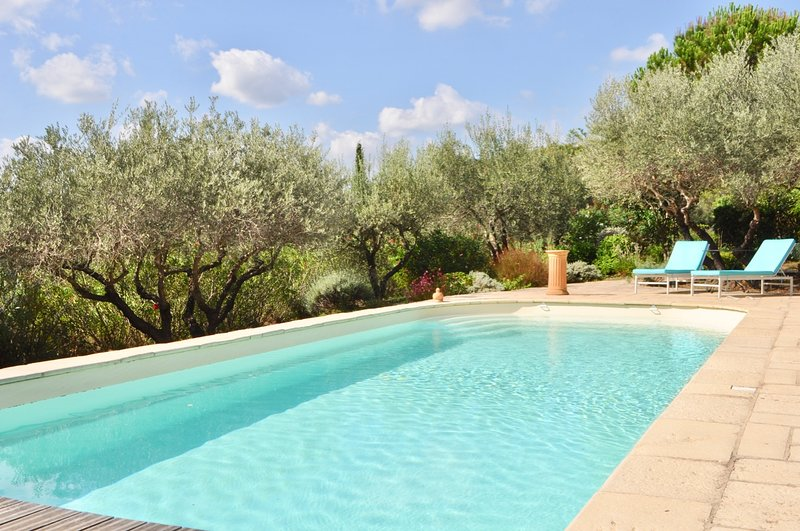 Quiet holidays with view & private pool, in a comfortable villa well decorated, location de vacances à Correns