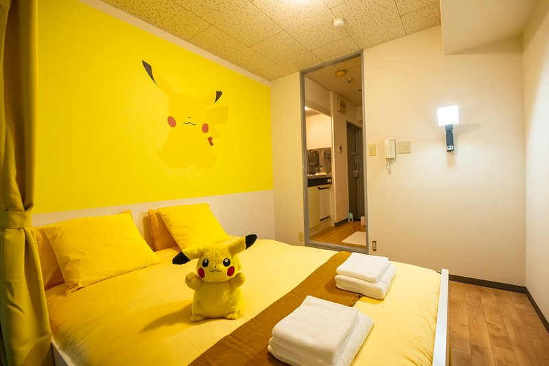 Picachu Fan Art Den Den Anime Namba Osaka PA02, holiday rental in Namba