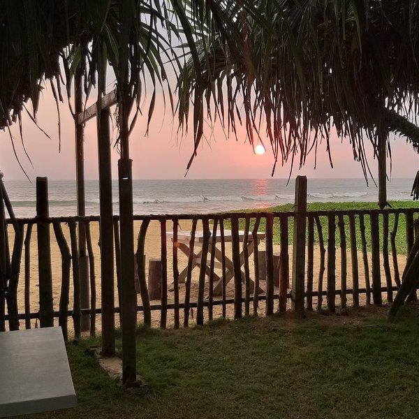 Solnedgång från fastigheten