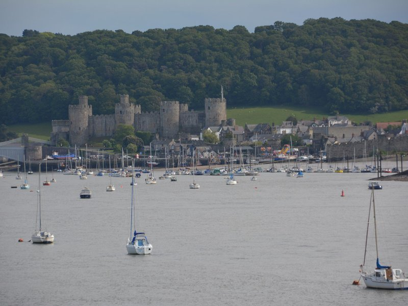 View of the nearby Conwy Castle
