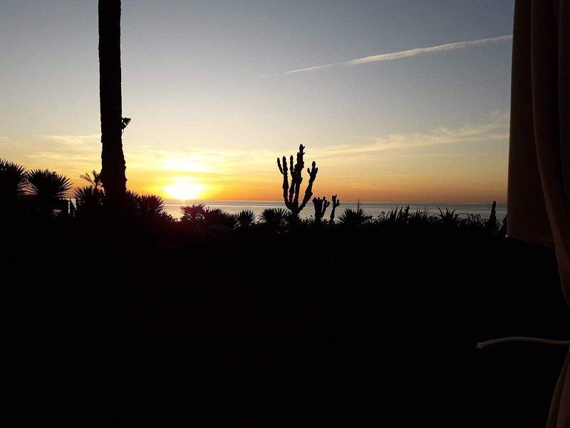 Una bellissima alba sulla spiaggia!