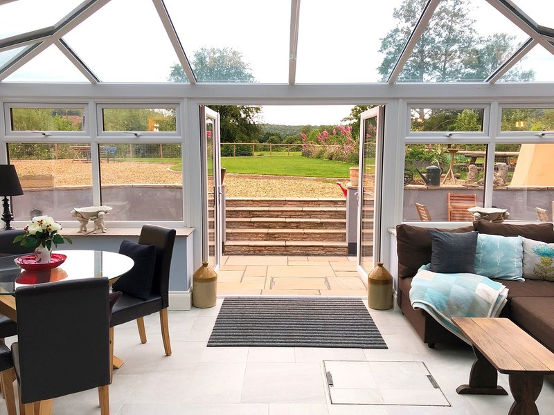 Let the outside in from the conservatory