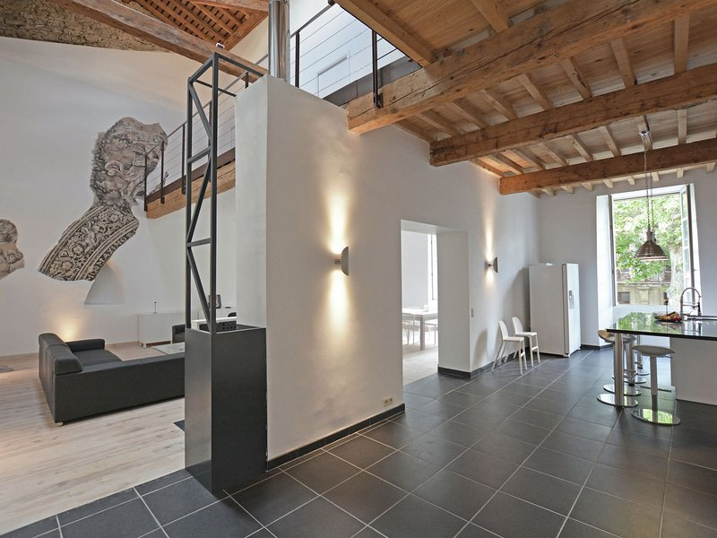 Stunning loft in a monastery, in village with park garden and pool, holiday rental in Belloc