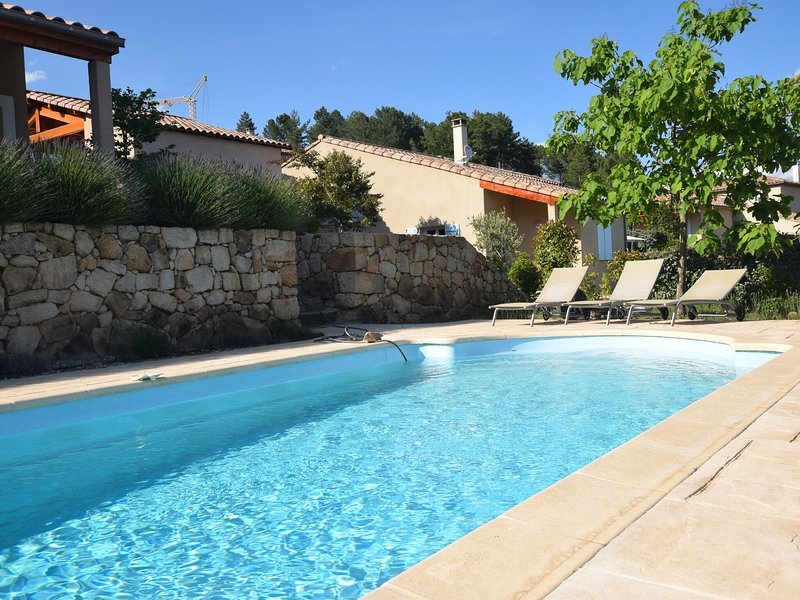 Beautifully located holiday villa with private swimming pool and lovely view!, location de vacances à Joyeuse