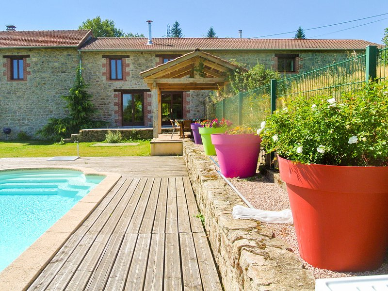 Restored barn in privat domain (3.5 hectares) with pool and 2 lakes, vacation rental in Thiers City