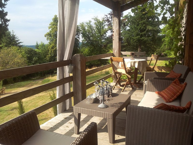 Tasteful and luxurious furnished holiday home estate with castle in the Vosges, holiday rental in Celles-sur-Plaine