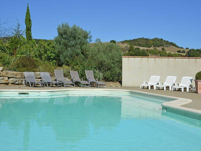 Superb villa with private heated pool, large garden, near Carcassonne, holiday rental in Saint Martin de Villereglan