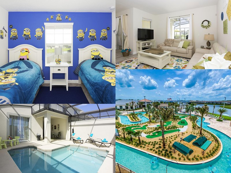 MINIONS! FREE Waterpark Access! Storey Lake 4BR w/Pool (3053GS), holiday rental in Old Town