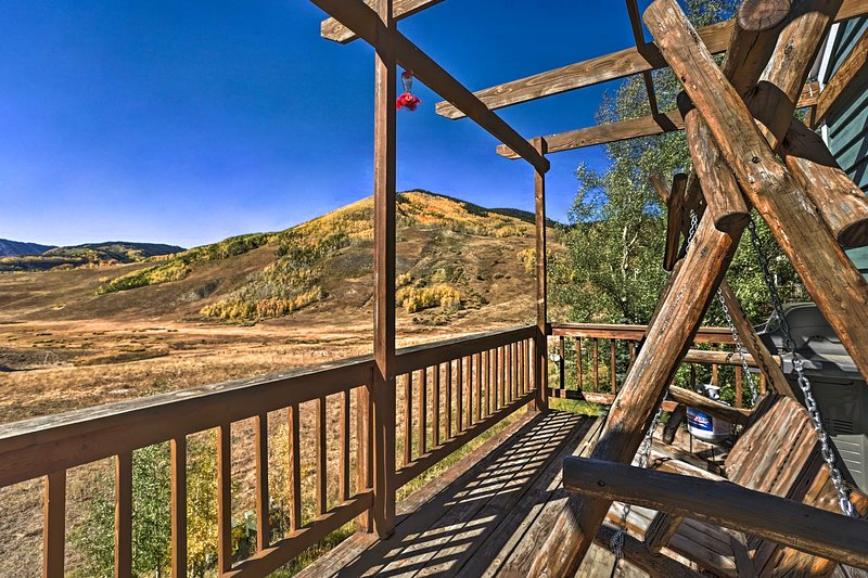 This house offers an expansive deck with incredible views.