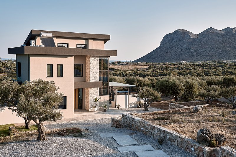 The Villa is Located in an olive grove of 5.500 sq.m