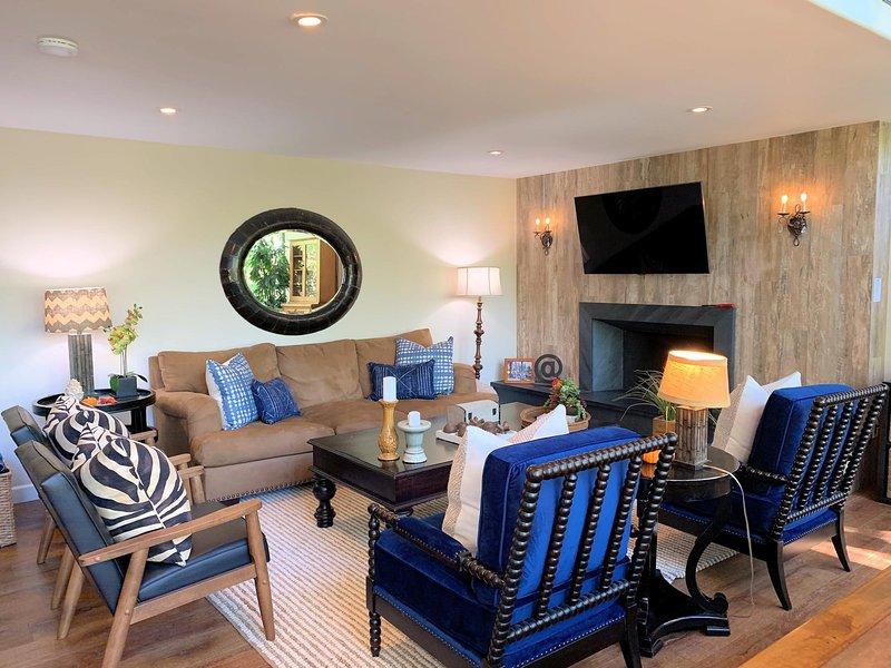Living Room | Fine furnishings & designer details abound. Comfortable & intimate