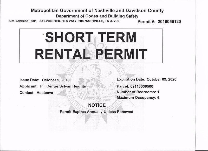 Short Term Rental Permit