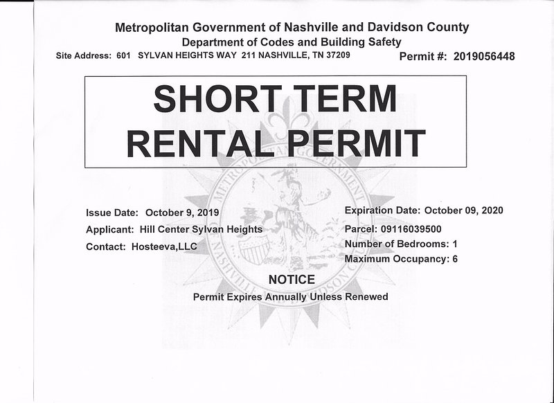 Short Term Rental Permit