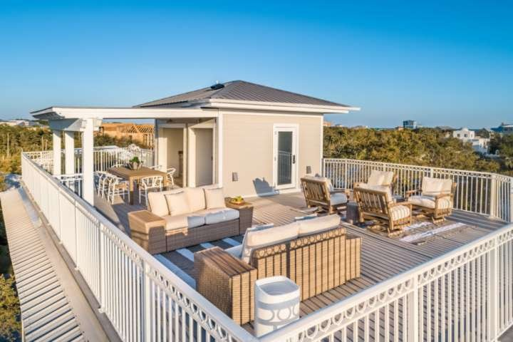 Spacious Updated Home w/Gorgeous Gulf Views! Private Heated Pool/Large Rooftop D, location de vacances à Blue Mountain Beach