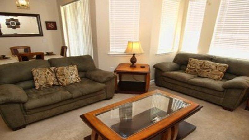 A bela sala de estar