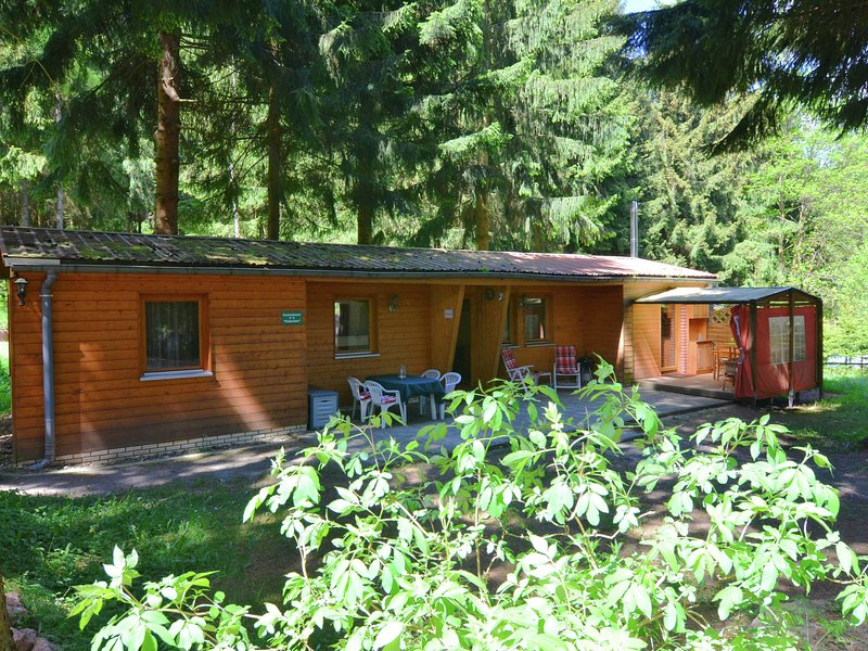 Holiday home for 6 persons close to a swimming pool, holiday rental in Georgenthal