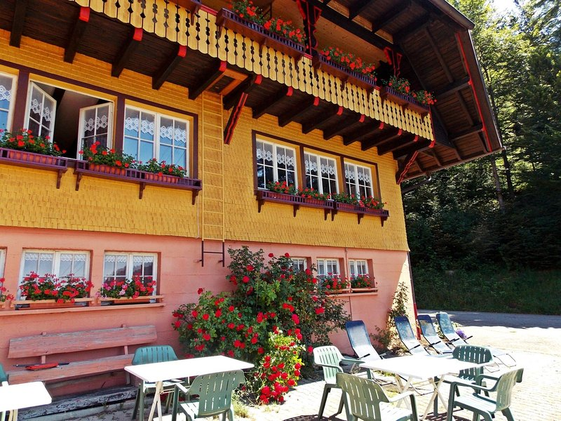 Quietly situated group house in the southern Black Forest with a gorgeous view, holiday rental in Herrischried